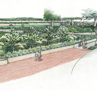 A rendering of the new Garden Terrace